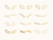 Summer Golden Flourish Divider...