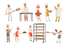 Bakers Characters Set With Bre...