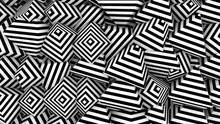 Background With Black White Shapes Pyramid