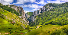Turda Gorge Cheile Turzii Is A Natural Reserve With Marked Trails For Hikes On Hasdate River