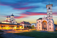 The Coronation Orthodox Cathedral And Roman Catholic Cathedral In Fortress Of Alba Iulia
