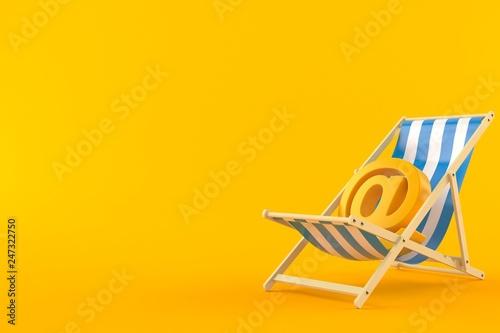Billede på lærred E-mail symbol on deck chair