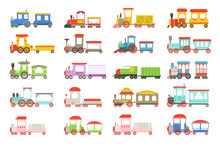 Toy Trains Set, Colorful Locom...
