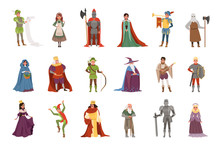 Medieval People Characters Set...