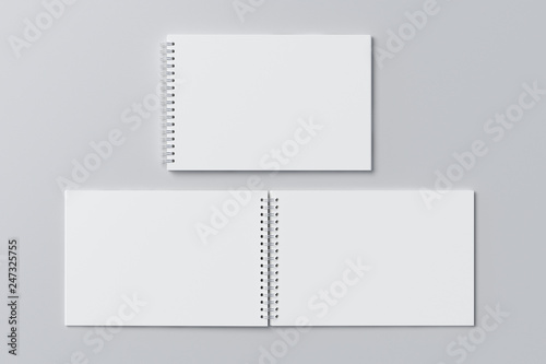 Papiers peints Spirale school notebook, spiral notepad on a table