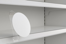 Blank Shelf Advertising Wobble...