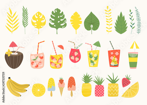 Fotografía  Set of summer items