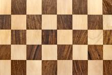 Dark Wooden Chessboard Checkered Background