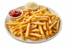 Plate Of French Fries With Ket...
