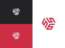 Combination Number, Stylish Vector Emblem For Design