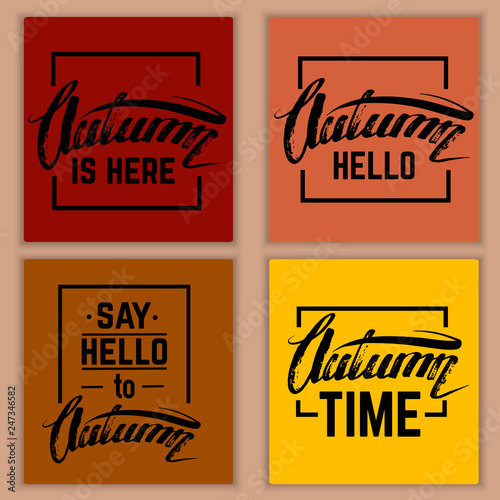 Poster Retro sign Quote typographical background. Illustration with unique lettering. Vector template for business card poster print and banner. EPS 10