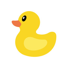 Yellow Duck Icon. Isolated On ...
