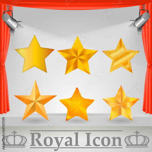 Cuadros en Lienzo Star-icon / Star-vector / Star set on transparent background/ Star web site pictogram, mobile app