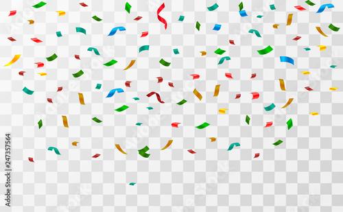 Fototapeta Abstract background with many falling tiny confetti pieces. vector background obraz na płótnie