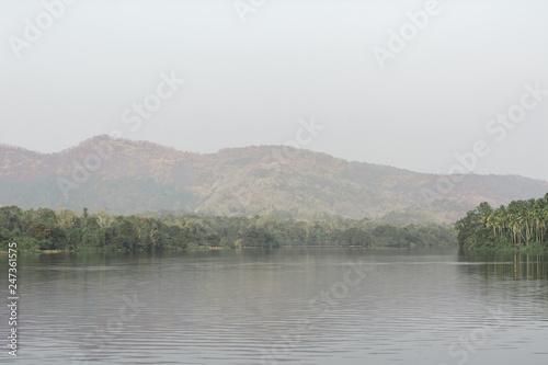 Fotografija  landscape of water body dam beautiful colourfull travel people
