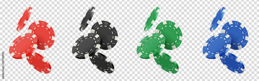 Fototapety, obrazy: Jetons de poker vectoriels 8