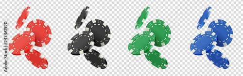 Valokuvatapetti Jetons de poker vectoriels 8