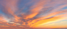 Panoranic Sunrise Sky With Col...