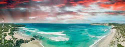In de dag Afrika Aerial view of beautiful Pennington Bay in Kangaroo Island, South Australia.