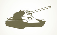 Tank. Vector Drawing
