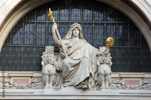 Statue of prudence on the BNP building in Paris Wallpaper Mural