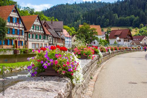Obraz Schiltach in Black Forest, Germany - fototapety do salonu