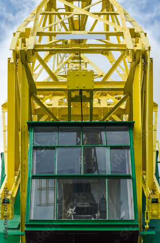 Foto op Plexiglas Poort PORT CRANES - Old historic machine on the port wharf in Szczecin