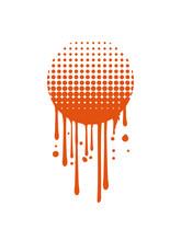 Kreis Graffiti Tropfen Rund Sonne Sommer Punkte Muster Raster Design Verlauf Dots Schraffur Fläche Cool übergang