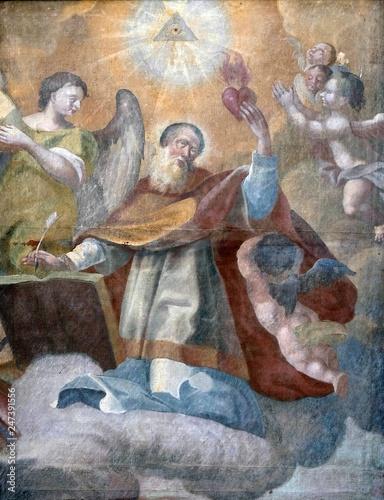 Obraz na plátne Saint Augustine altarpiece in the church of Saint Leonard of Noblac in Kotari, C