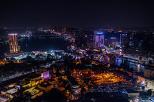 18/11/2018 Cairo, Egypt, Incredible Skyscraper View Of A Night City With Lots Of City Lights