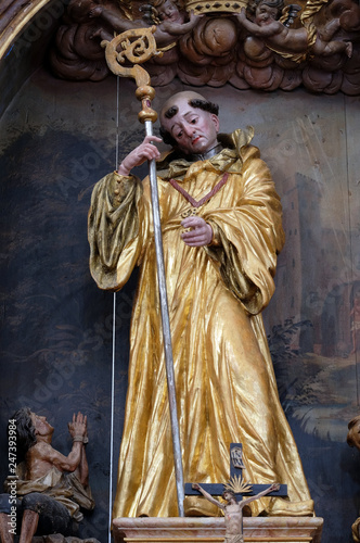 Saint Leonard of Noblac, main altar in the church of Saint Leonard of Noblac in Canvas Print