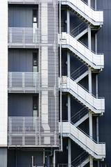 geometric emergency staircase
