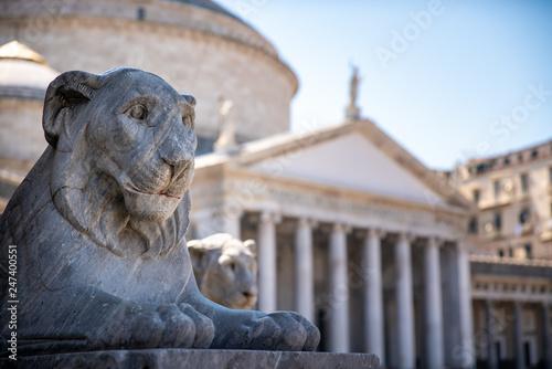 Fényképezés  Piazza del Plebiscito, Naples, Italy