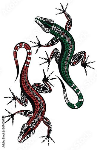 Obraz na plátně Lizard vector icon logo and symbols template
