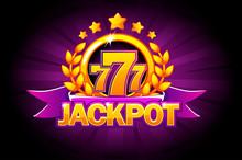 Jackpot Banner With Purple Rib...