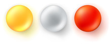 Set Of Icons Of Glossy Balls. ...