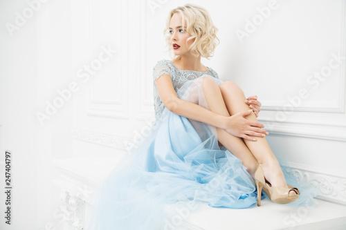 Fotografia light blue dress