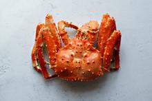 Big Whole Alaskan Crab On Conc...
