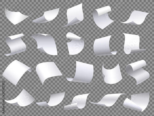 Cuadros en Lienzo Flying paper pages
