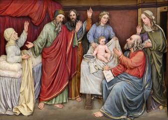 Birth of St. John the Baptist altarpiece in the church of Saint Matthew in Stitar, Croatia