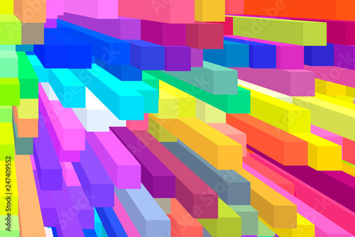 3D render of an abstract background
