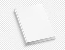 White Hardcover Book Vector Mo...