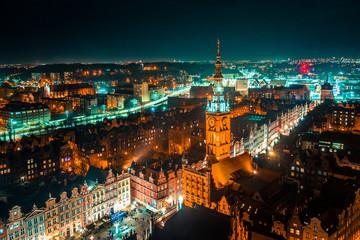 Panel Szklany Gdańsk Gdańsk z lotu ptaka
