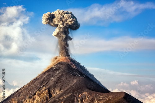 Erupting Volcano, big:surname.xmstore Canvas Print