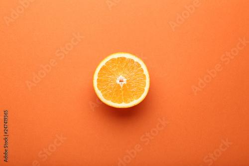 Orange fruit on colorful background - 247419365