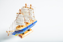 Sailing Ship Model Isolated On...
