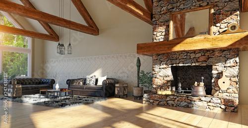 Foto op Plexiglas Artistiek mon. modern luxury house interior.