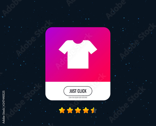 T-shirt sign icon  Clothes symbol  Web or internet icon