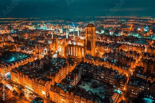 Fototapeta Gdańsk z lotu ptaka obraz na płótnie