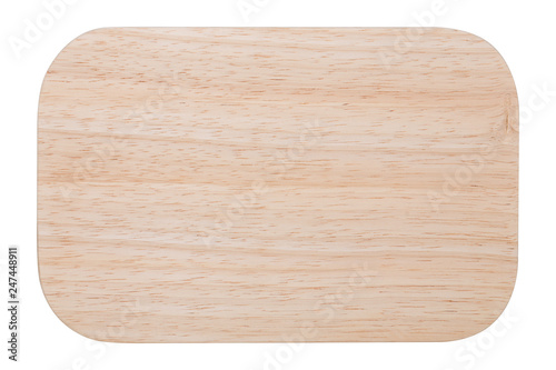 Fotografia, Obraz  wooden cutting board, flat lay, on a white background